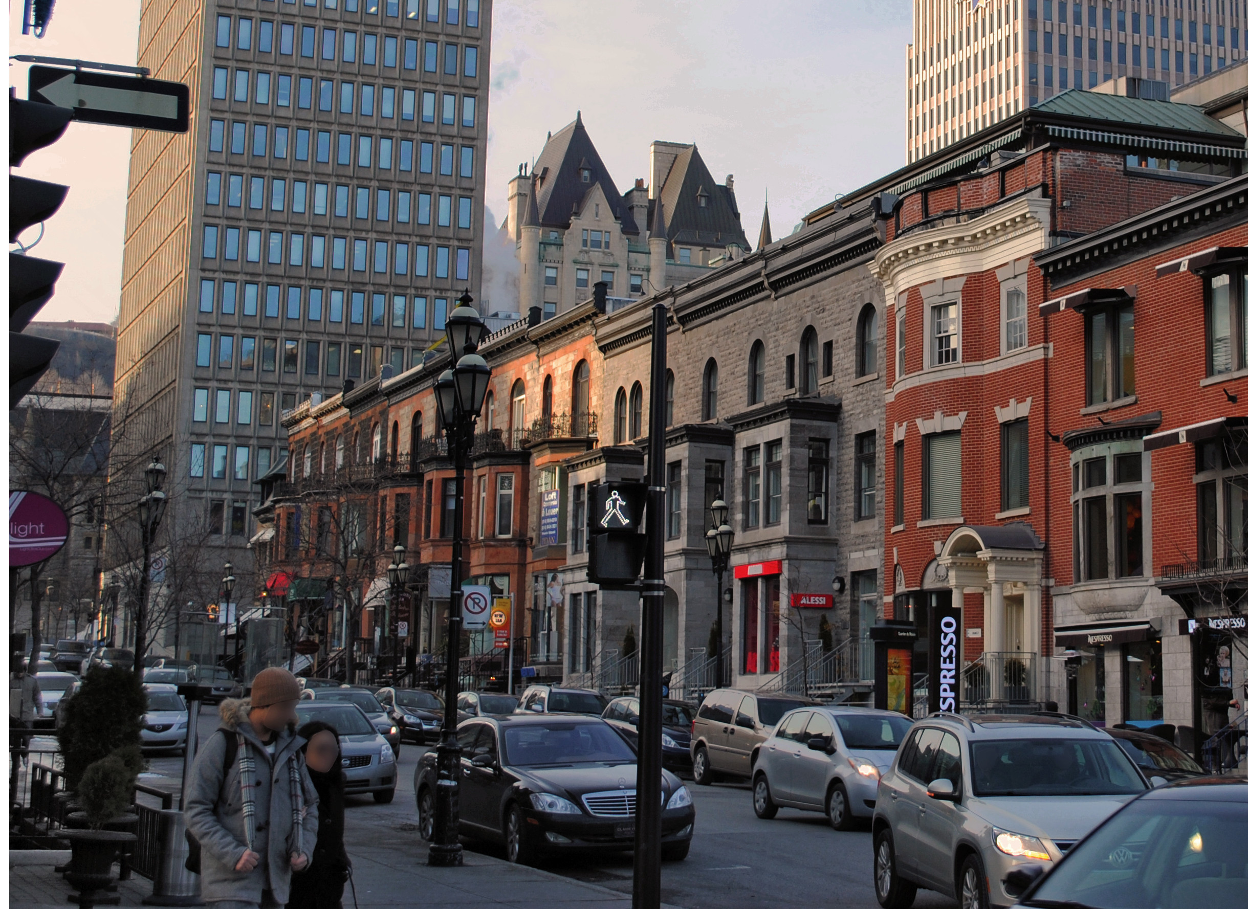 Photo La rue Crescent à Montréal - Canada